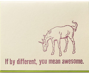 unicorns, awesome, and different image