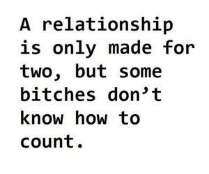 bitch, Relationship, and quote image
