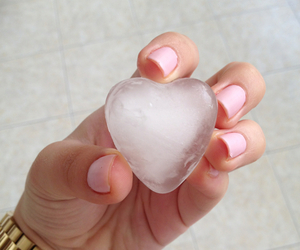 heart, ice, and nails image