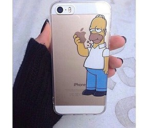 apple, funny, and simpson image