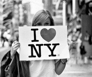 ny, new york, and black and white image