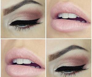 makeup, lips, and pink image