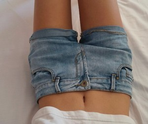bed, jeans, and pants image