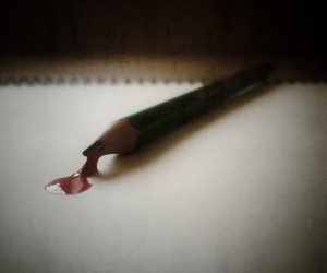 blood, conceptual, and pencil image