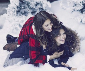 bff, girls, and snow image