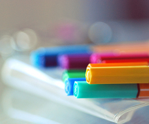 colorful and pen image