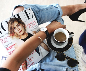 fashion, vogue, and coffee image