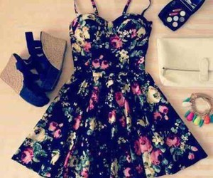 dress, floral, and pretty image
