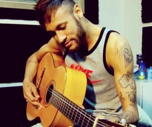 neymar, guitar, and neymar jr image