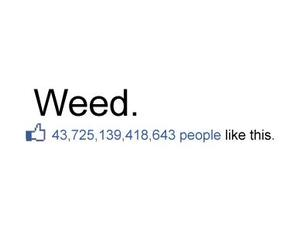 weed, like, and facebook image