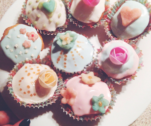 cakes, cupcakes, and flowers image