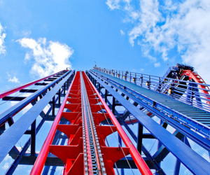 Roller Coaster, sky, and cool image