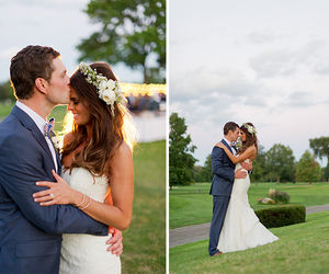 bride, dress, and kiss image