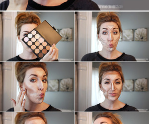 make up, makeup, and contouring image