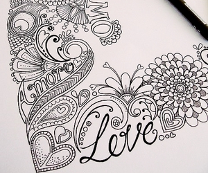love, drawing, and art image