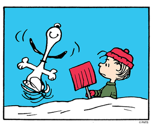 fun, snow, and peanuts image