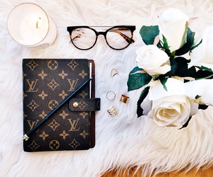 coffee, Louis Vuitton, and vintage image