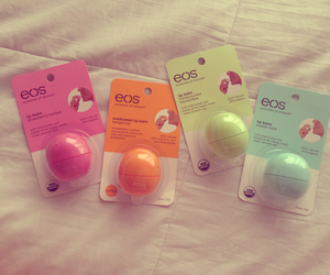 eos, lipbalm, and pink image