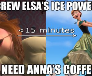 anna, coffee, and frozen image