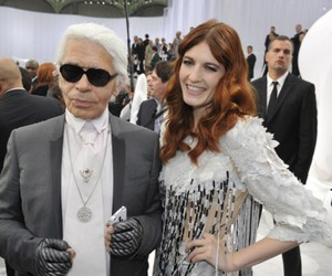 florence welch and karl lagerfeld image
