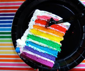 cake, colors, and rainbow image