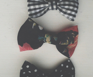 black, bows, and lovely image