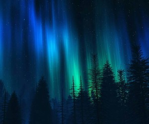 beauty, view, and northern lights image