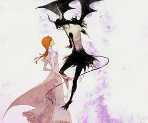 bleach, Orihime, and Ulquiorra image