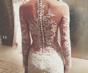 wedding, fashion, and lace image