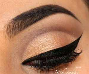 eye, black, and eyeliner image