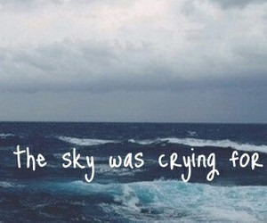 cry, ocean, and quote image