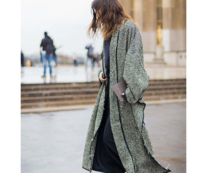 street, cozy coat, and styled image