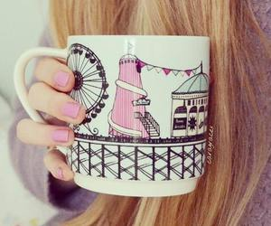 cute, blonde, and cup image