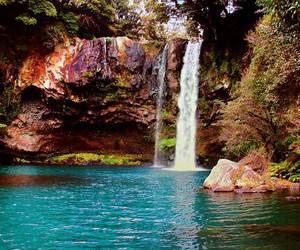 waterfall, korea, and nature image