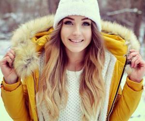 fashion, winter, and yellow image