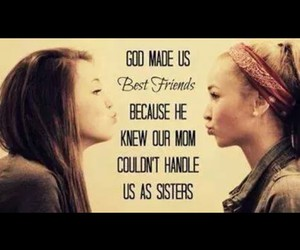 love, sisters, and best friends image