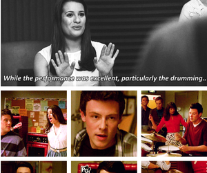 lea michele, cory monteith, and glee club image