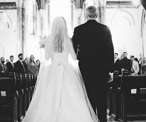 wedding, bride, and father image