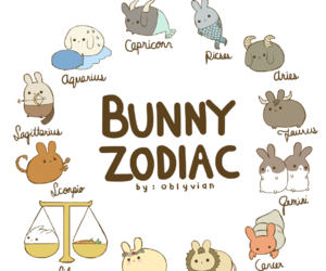 zodiac, bunny, and kawaii image