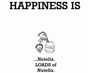 nutella, happiness, and food image