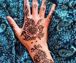 blue and henna image