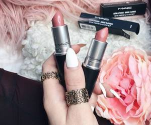 pink, lipstick, and mac image