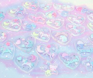 pastel, heart, and pink image