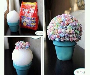 diy, candy, and flowers image