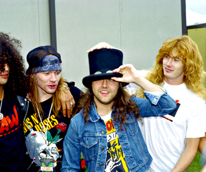 slash, axl rose, and dave mustaine image