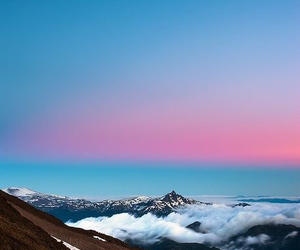 pink, beautiful, and blue image