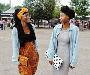fashion, African, and beautiful image