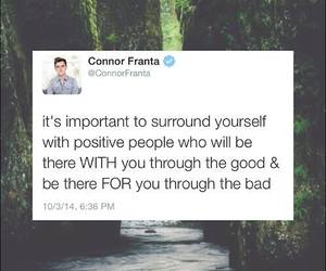 connor franta, positive, and quote image