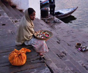 boat, girl, and india image