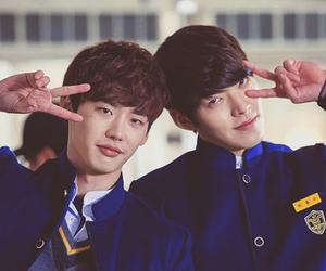 school 2013, kim woo bin, and lee jong suk image